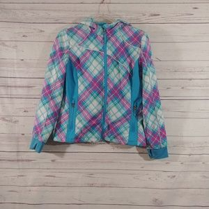 Snozu Faux Fur Lined Plaid Winter Coat sz L